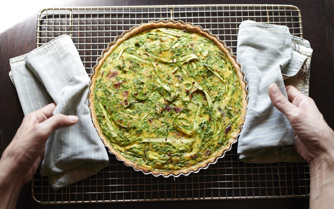 Spring Alliums Quiche