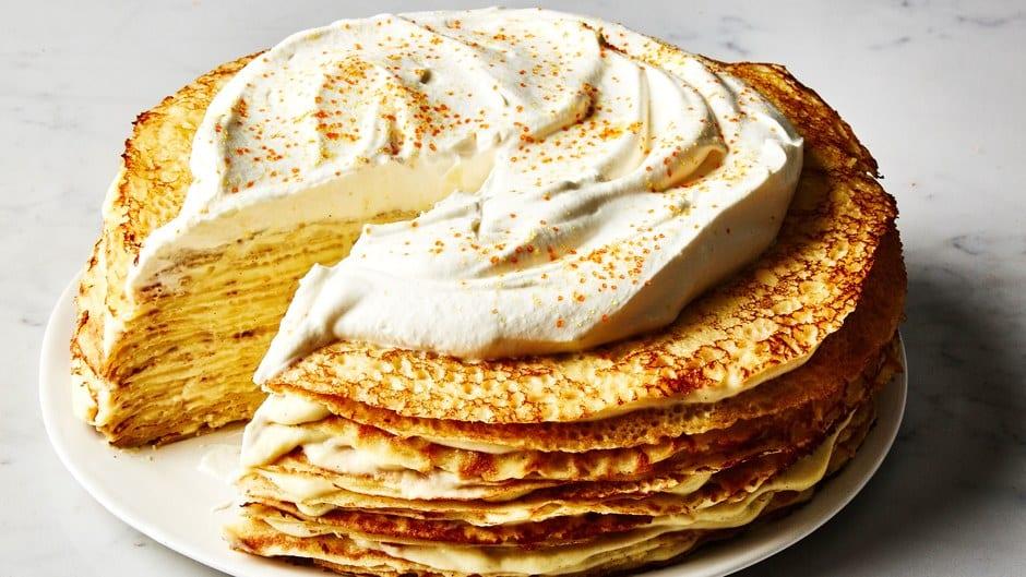 Orange Cardamom Crepe Cake (Bon Appétit)