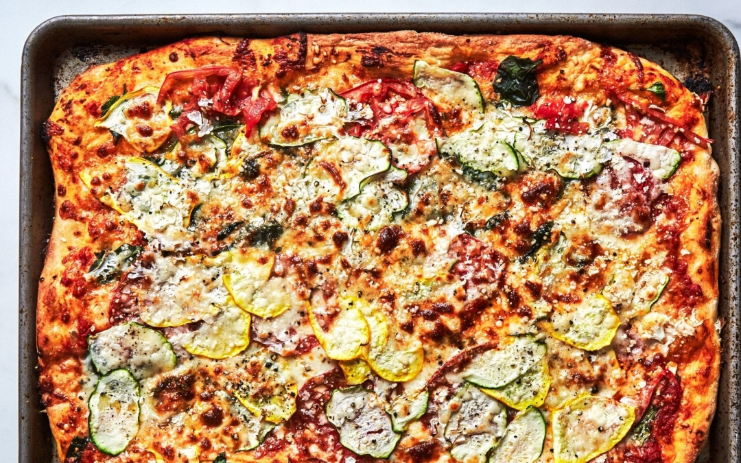 A Veggie-Loaded Pizza You Can Actually Make on a Weeknight (Bon Appétit)