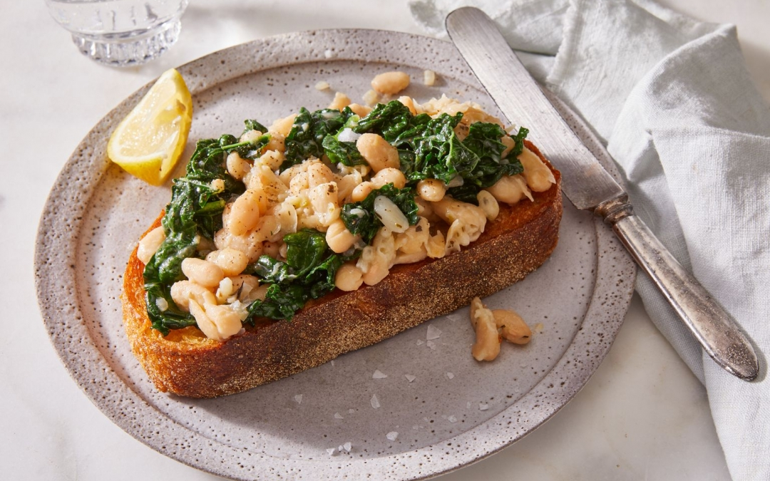 White Bean & Kale Toast with Herbes de Provence (Food52)